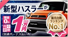 新型HUSTLERが月々定額1万円