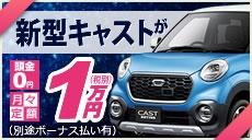 新型CASTが月々定額1万円